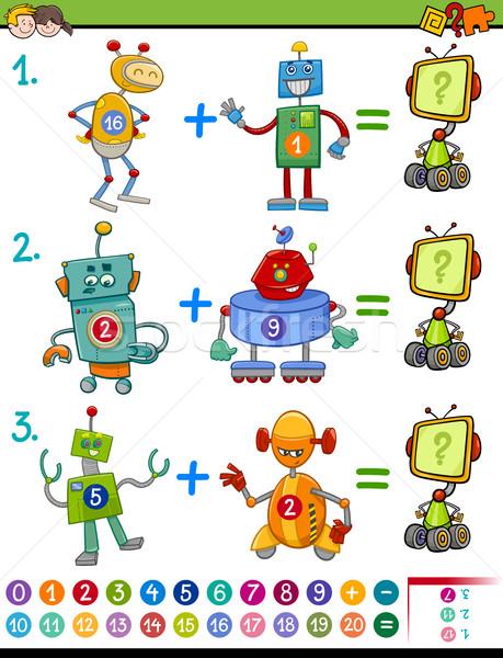 Wiskundig onderwijs activiteit cartoon illustratie spel Stockfoto © izakowski