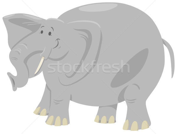 Elefanten Karikatur Safari Tier Illustration cute Stock foto © izakowski