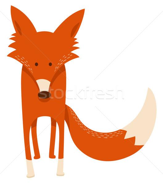 cute cartoon red fox animal character Stock photo © izakowski