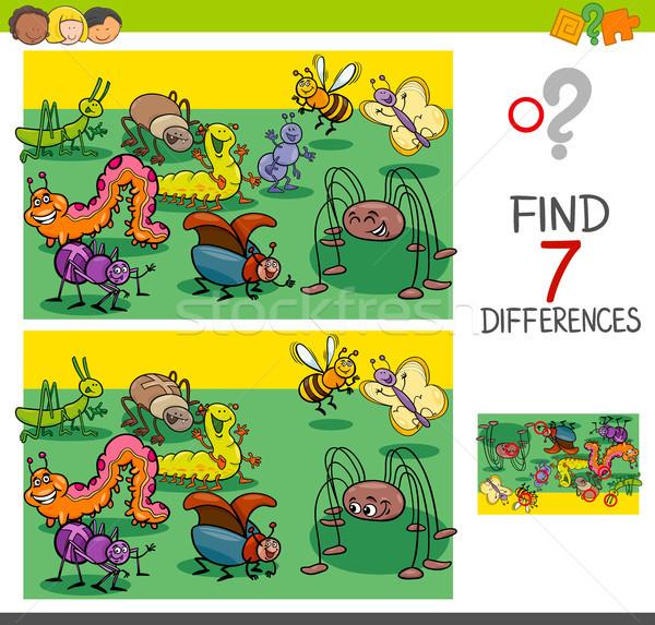 Bulmak farklılıklar böcek hayvan grup Stok fotoğraf © izakowski