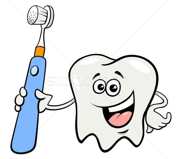 歯 文字 歯ブラシ 漫画 実例 幸せ ストックフォト © izakowski