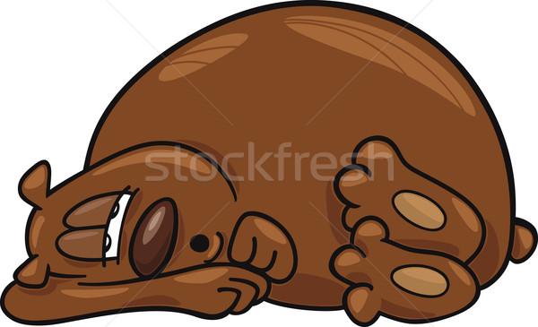 Assonnato orso cartoon illustrazione inverno divertente Foto d'archivio © izakowski