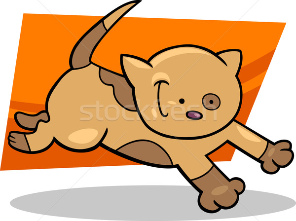running spotted kitten Stock photo © izakowski