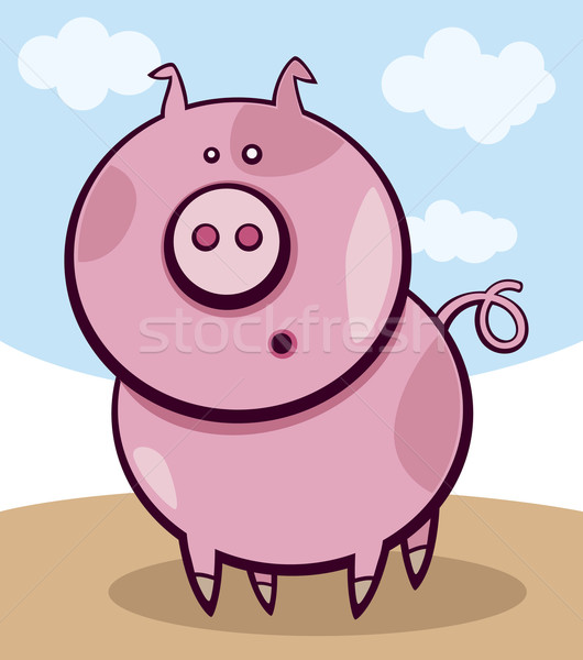 Surprised pig Stock photo © izakowski