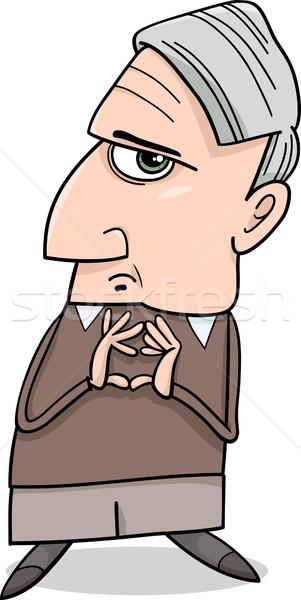 thinking man cartoon illustration Stock photo © izakowski