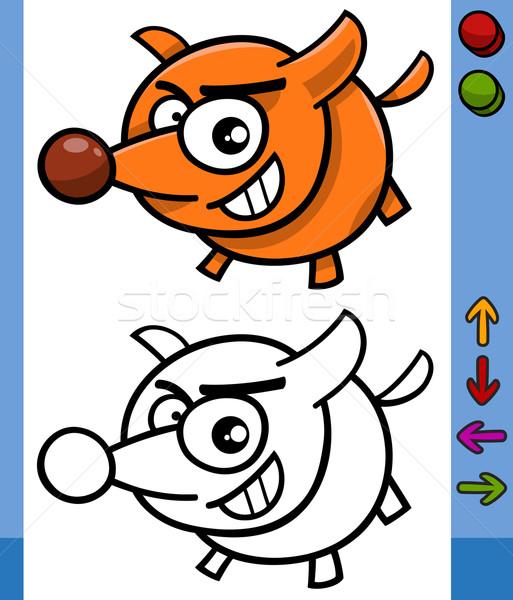 Perro juego carácter Cartoon ilustración funny Foto stock © izakowski