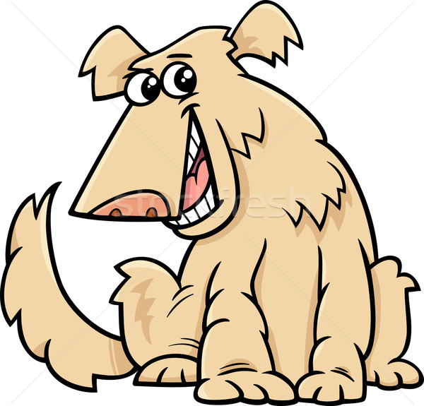 Stock photo: shaggy dog cartoon