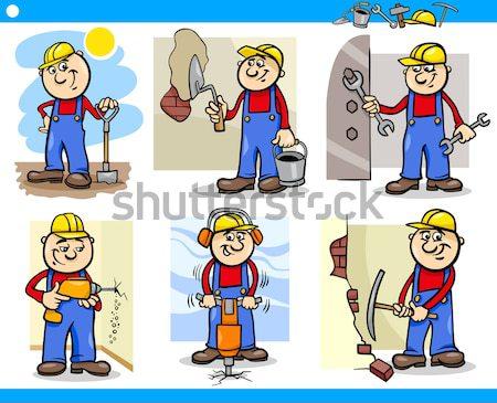 people occupations characters set Stock photo © izakowski