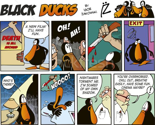 Black Ducks Comics episode 63 Stock photo © izakowski