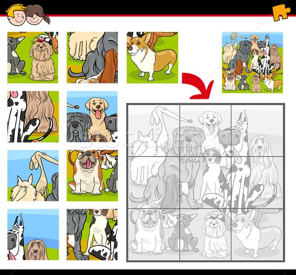 jigsaw puzzle task with dogs Stock photo © izakowski