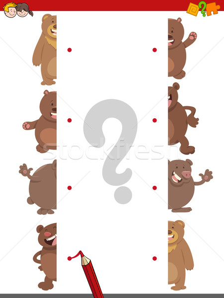 match the halves of bears Stock photo © izakowski