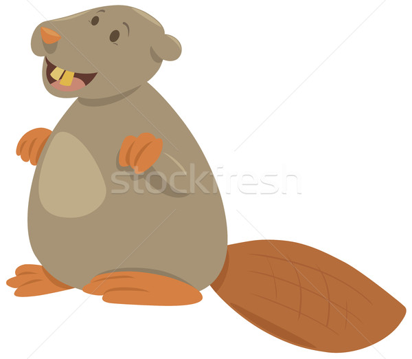 cartoon beaver animal character Stock photo © izakowski