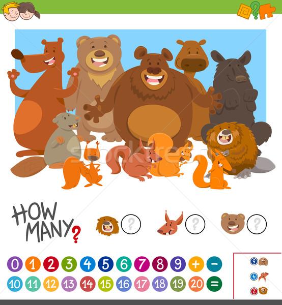 count how many animals game Stock photo © izakowski