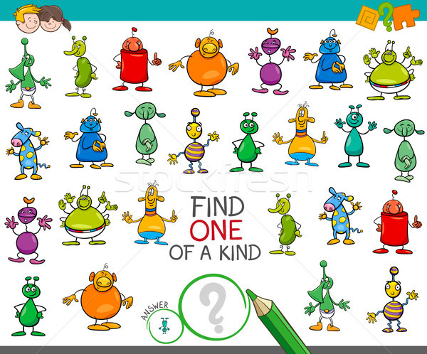 find one of a kind game with aliens characters Stock photo © izakowski