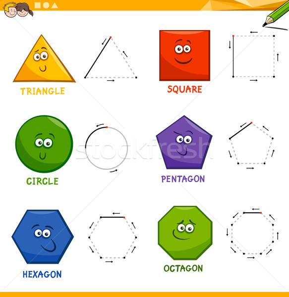 Básico geométrico formas desenho livro Foto stock © izakowski