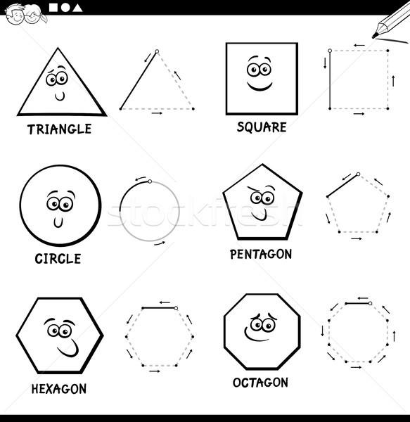 Elaborar básico geométrico formas color libro Foto stock © izakowski
