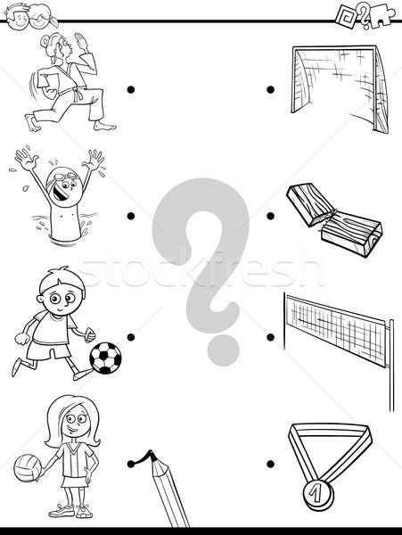 match children and sport activities color book Stock photo © izakowski