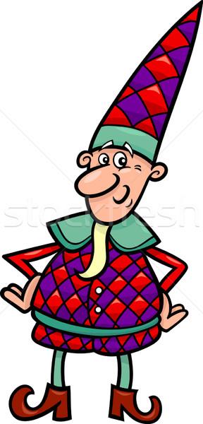 christmas elf or gnome cartoon Stock photo © izakowski
