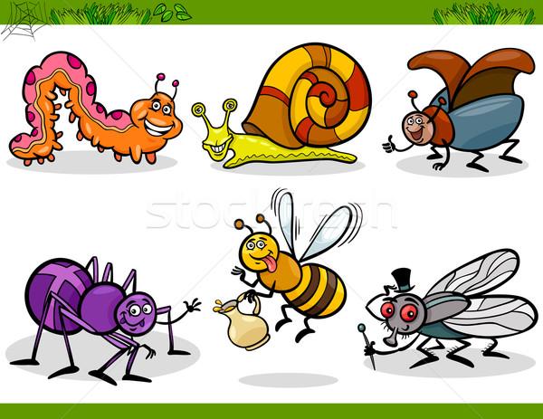 Mutlu haşarat ayarlamak karikatür örnek böcek Stok fotoğraf © izakowski