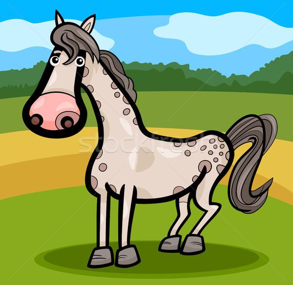 horse farm animal cartoon illustration Stock photo © izakowski