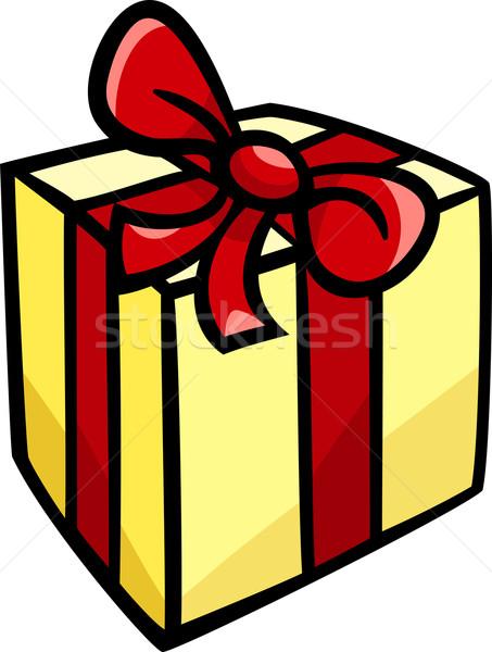 Christmas verjaardag geschenk clip art cartoon illustratie Stockfoto © izakowski