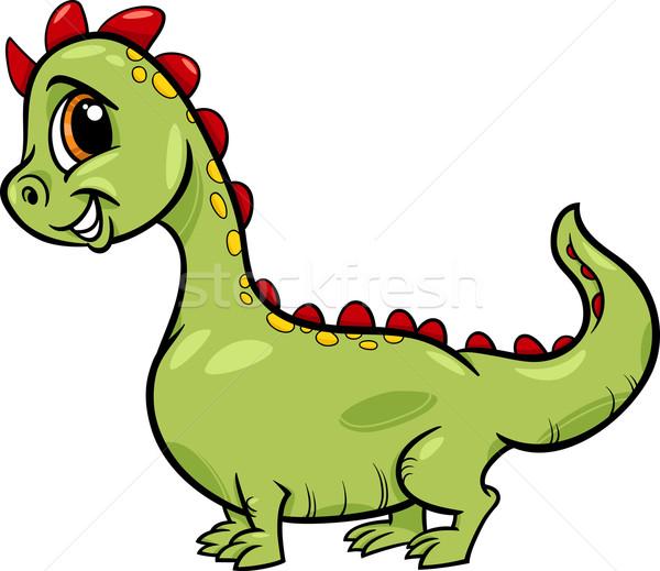 cartoon dragon cute fantasy character Stock photo © izakowski
