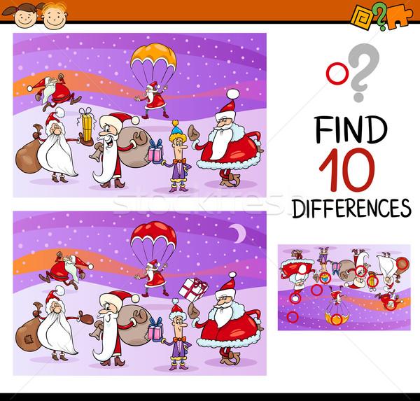 Diferenças tarefa desenho animado ilustração Foto stock © izakowski