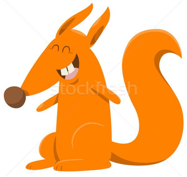 Karikatür sincap hayvan karakter örnek mutlu Stok fotoğraf © izakowski
