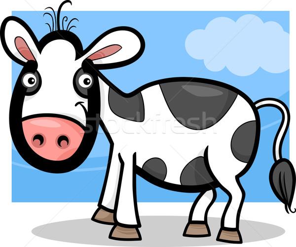 calf baby farm animal cartoon illustration Stock photo © izakowski