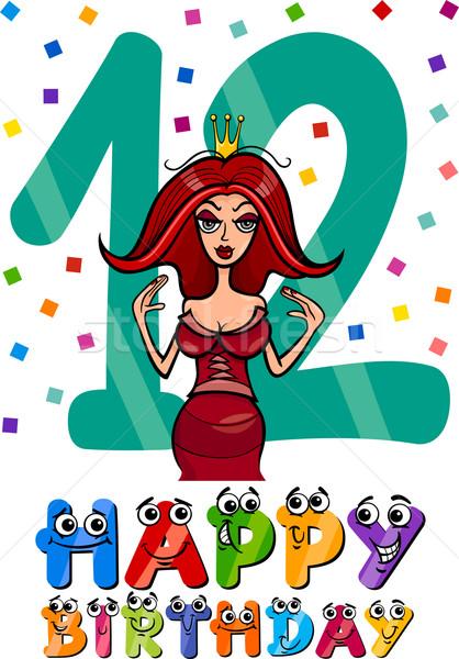 twelfth birthday cartoon design Stock photo © izakowski