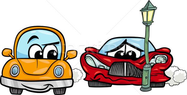 Sportautó rajz illusztráció retro autómobil autó Stock fotó © izakowski