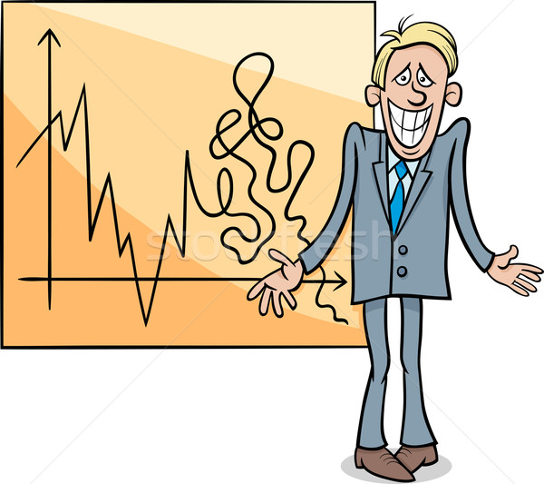 economic crisis cartoon illustration Stock photo © izakowski
