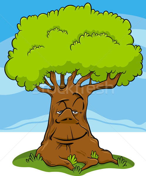дерево фантазий характер Cartoon иллюстрация сказка Сток-фото © izakowski