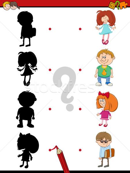 preschool shadow activity with kids Stock photo © izakowski