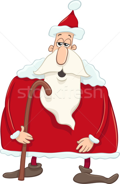 santa with cane cartoon Stock photo © izakowski