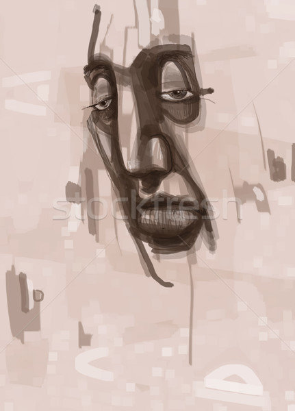 man face digital painting Stock photo © izakowski