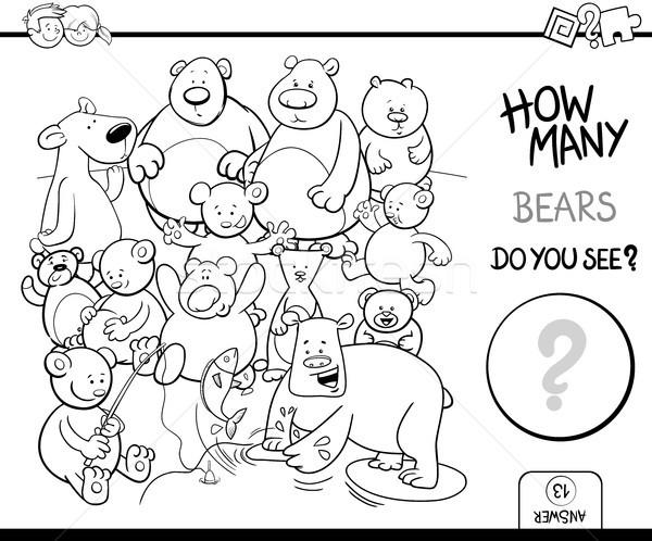 counting bears coloring book activity Stock photo © izakowski