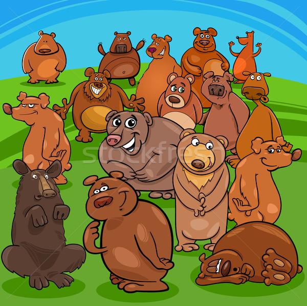 cartoon bears animal characters Stock photo © izakowski