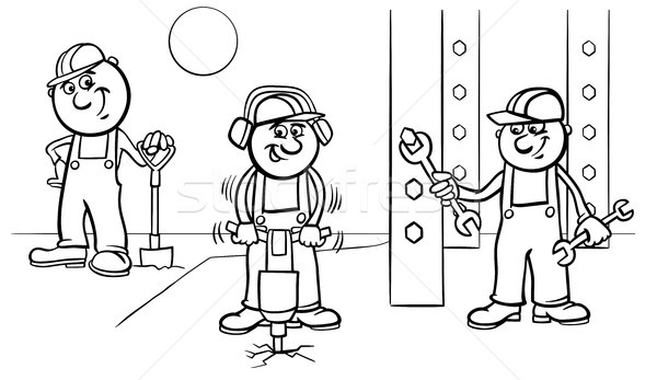 Handbuch Arbeitnehmer Bauherren Arbeit Farbe Buch Stock foto © izakowski
