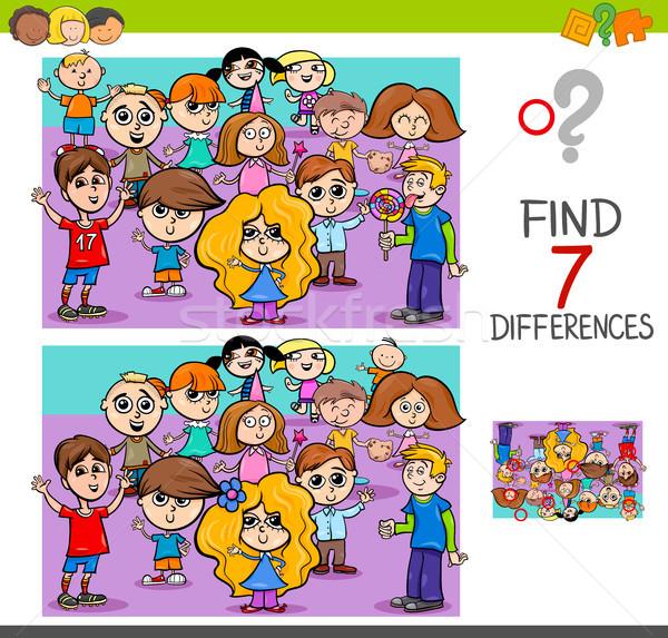 Bulmak farklılıklar çocuklar karikatür örnek Stok fotoğraf © izakowski