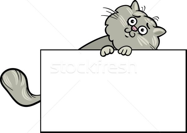 漫画 猫 ボード カード 実例 面白い ストックフォト © izakowski