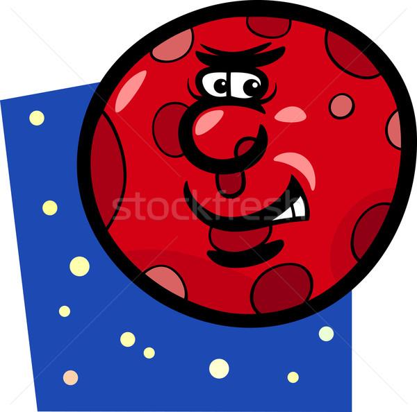 funny mars planet cartoon illustration Stock photo © izakowski