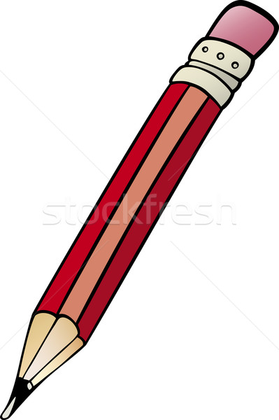 pencil clip art cartoon illustration Stock photo © izakowski