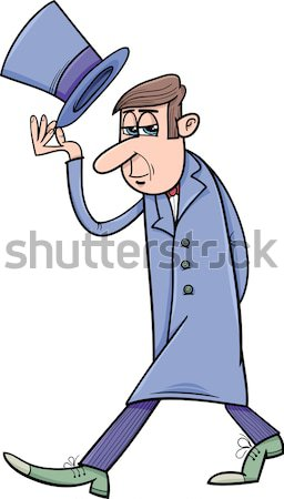 detective or gangster cartoon illustration Stock photo © izakowski
