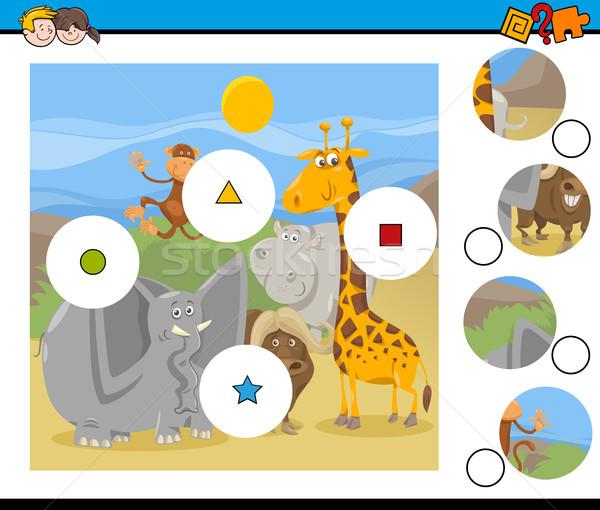 Combinar peças jogo desenho animado ilustração Foto stock © izakowski