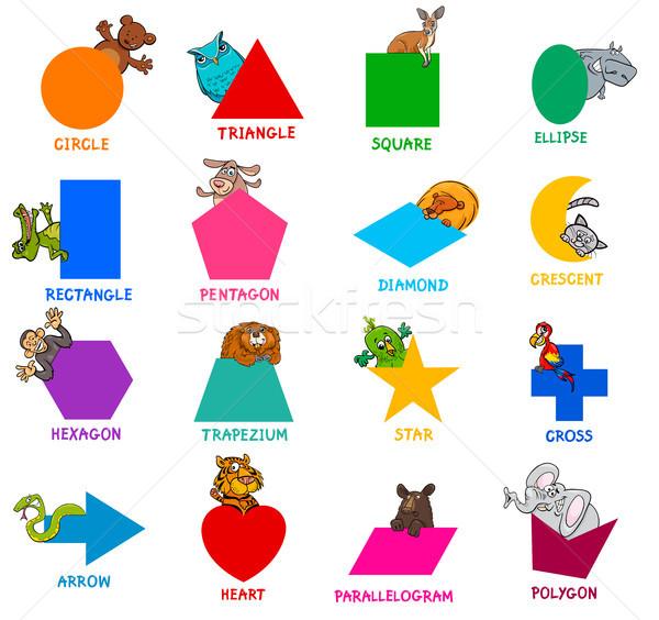 геометрический животного набор образовательный Сток-фото © izakowski