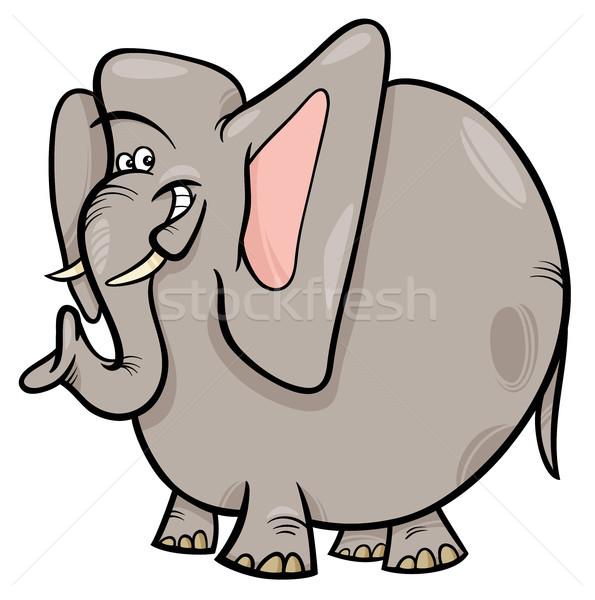 elephant cartoon wild animal character Stock photo © izakowski
