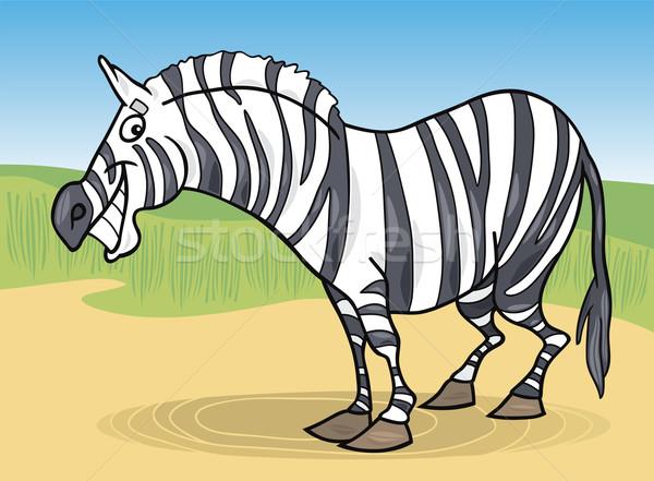 漫画 シマウマ 実例 面白い アフリカ 旅行 ストックフォト © izakowski