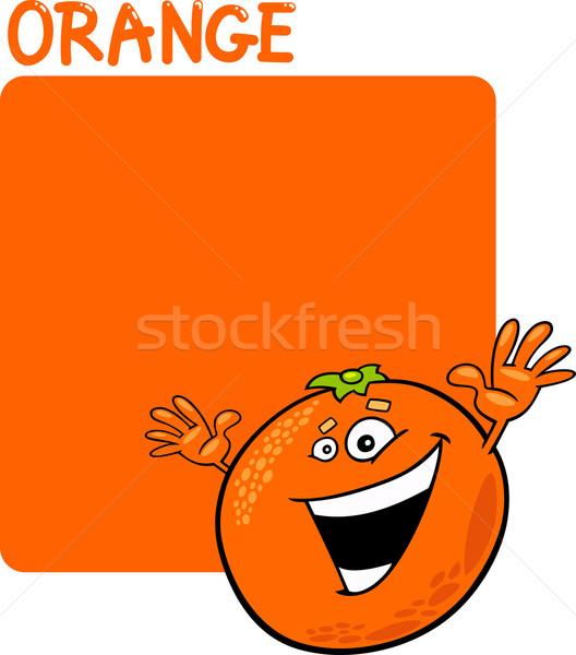 Color Orange and Orange Fruit Cartoon vector illustration © Igor ...
