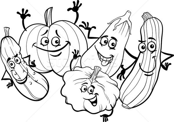 Sebze Boyama Kitabı Siyah Beyaz Karikatür örnek Komik